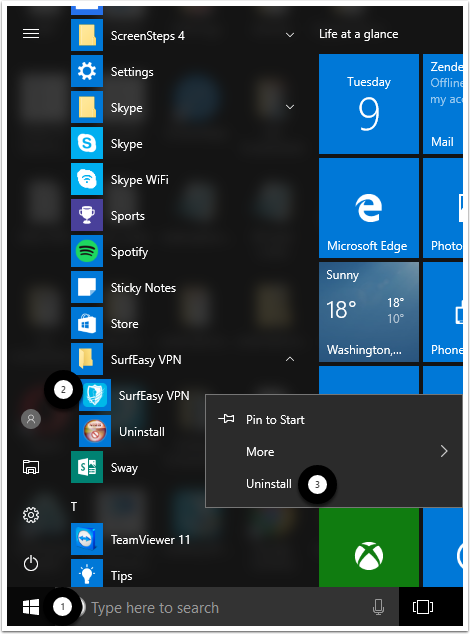 How To Uninstall SurfEasy VPN on Windows 10 – SurfEasy